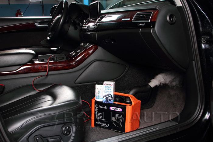 удаление неприятного запаха в салоне автомобиля озонированием